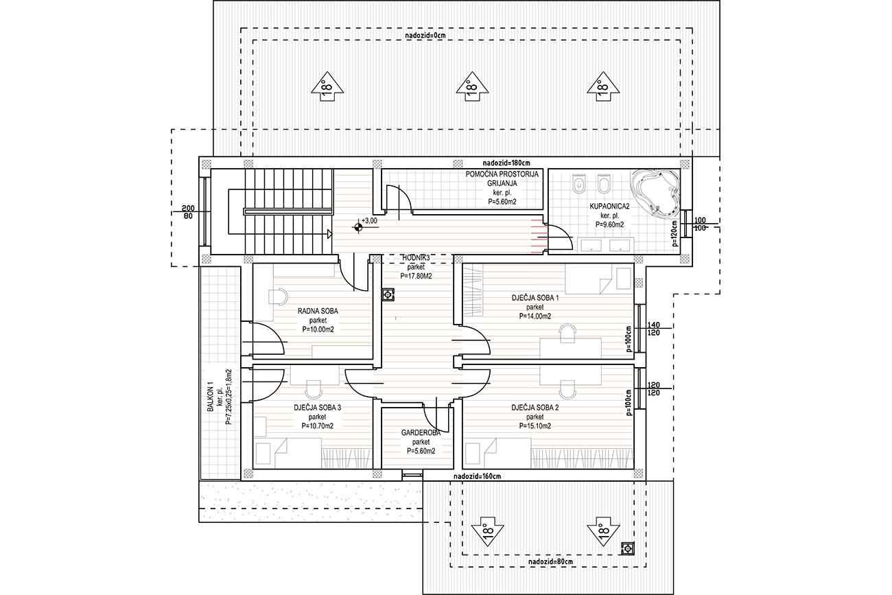 Kuća Š - Karlovac - tlocrt prvog kata